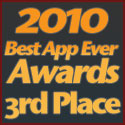 2010 Best AppEverAwards 3rd Place