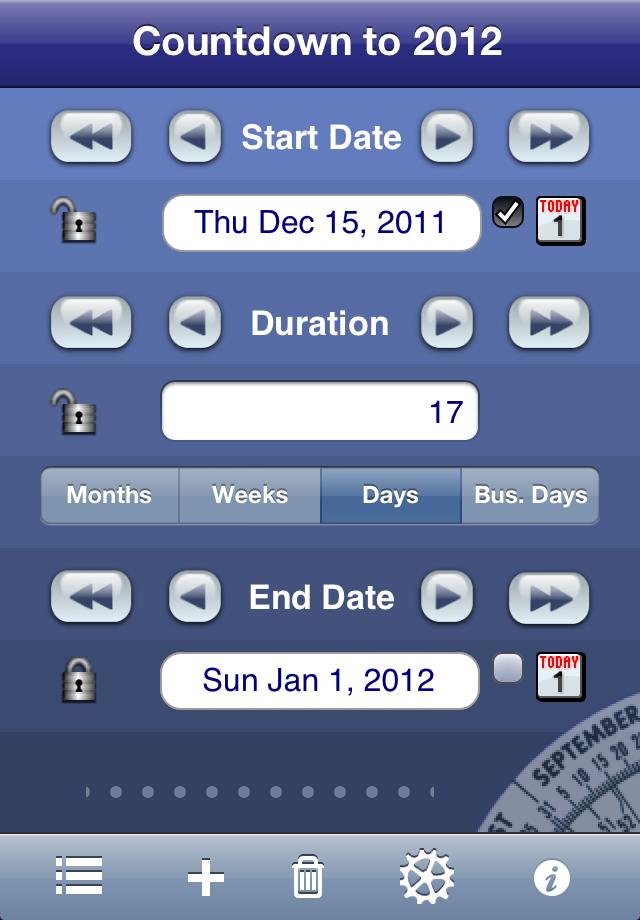 Date Wheel countdown