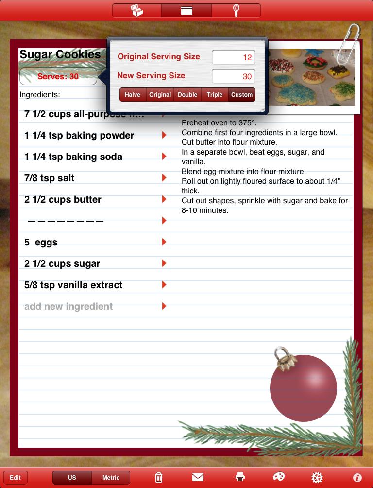 personal recipe cards