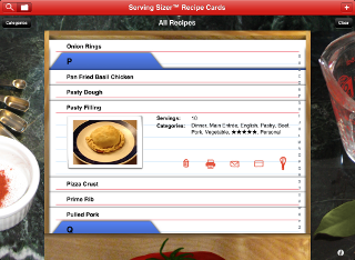 Recipe Cards screenshot