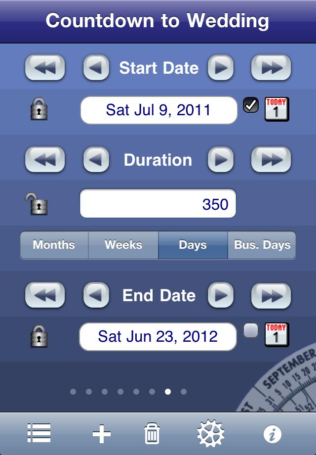 Date Wheel countdown screenshot