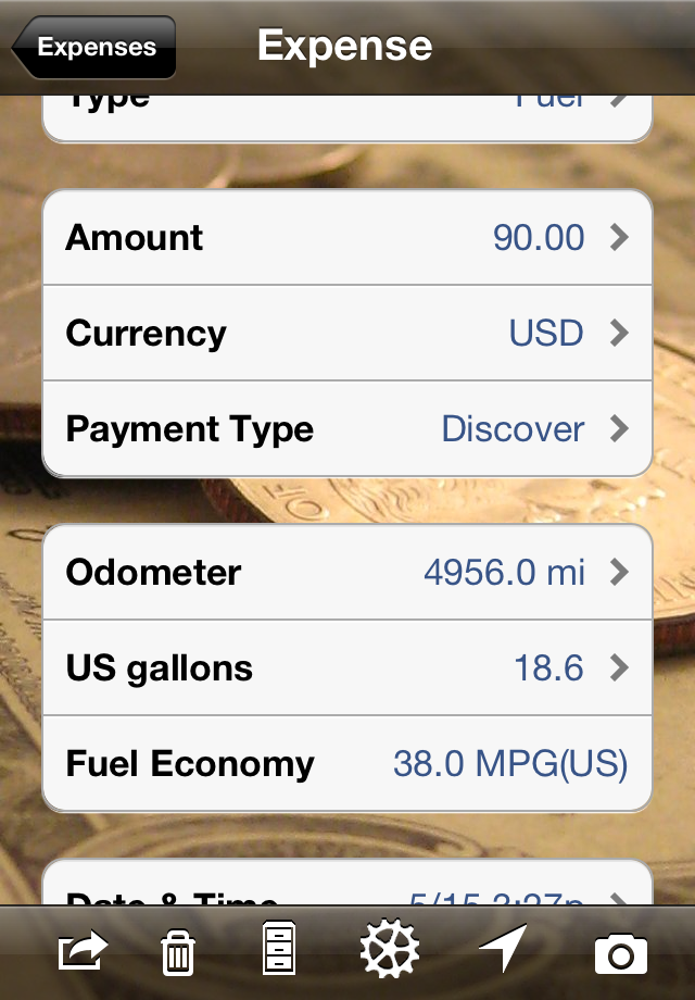 Trip Boss Fuel Economy screenshot