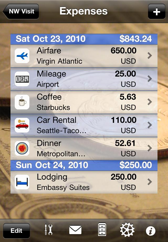 Trip Boss Expenses screenshot
