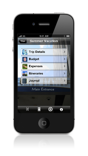 Navigation by trip screenshot