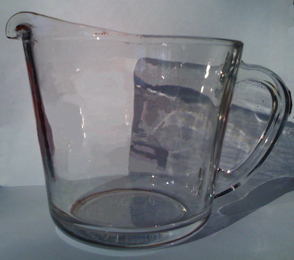 second measuring cup with lines removed